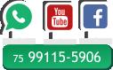Logo-sociais Whatapp Youtube Face Book